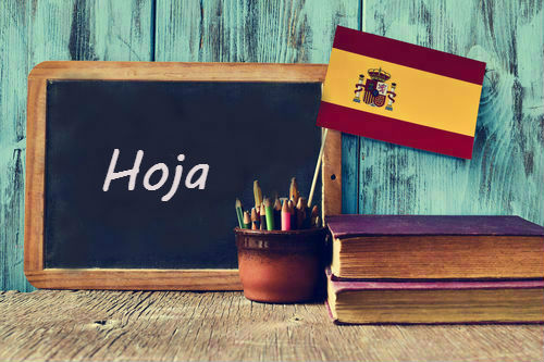 Spanish word of the day: 'Hoja'