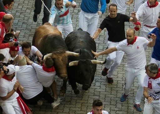 Pamplona: Famed bull run fiesta ends with 8 people gored (one while trying to take a selfie)