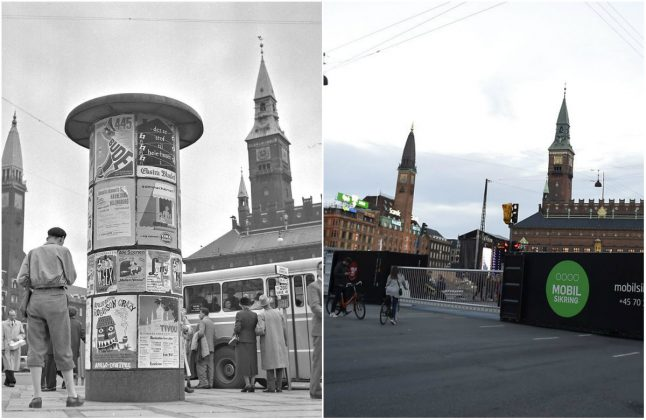 10 photos of Denmark in the 1950s and 1960s – and the same spots today