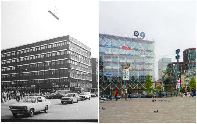 Denmark in the 1980s in pictures – and the same locations today