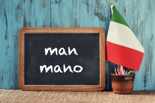 Italian expression of the day: 'Man mano'