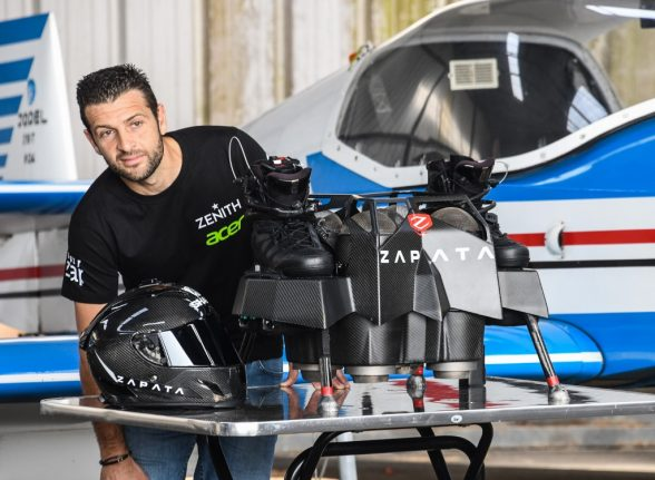 'We'll have flying cars by the end of the year', promises France's flyboard hero Zapata
