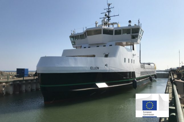 Denmark's first electric ferry 'sets sail' on maiden voyage