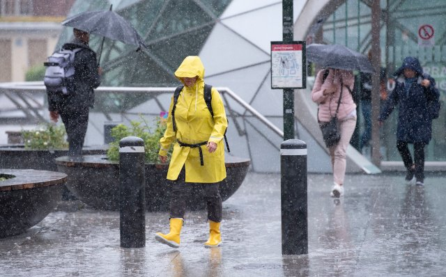 Weather warning as torrential rain batters southern Sweden