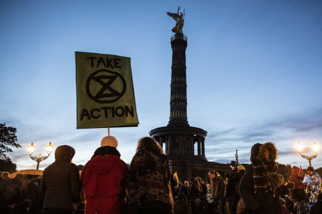 Climate activists block traffic in Berlin as protests heat up