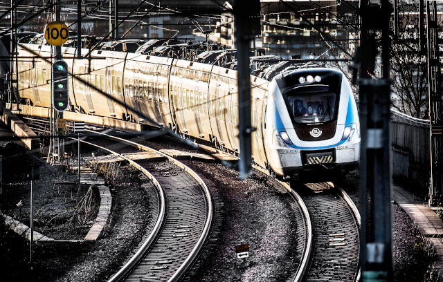 Trains running again after truck hits flyover north of Stockholm