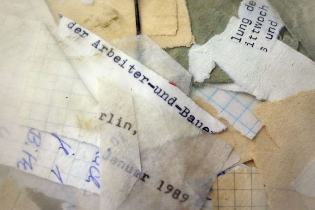 How Germans are reconstructing Stasi files from millions of fragments