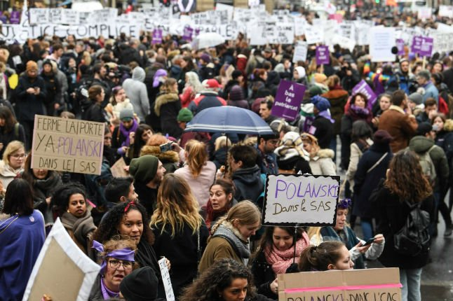 Tens of thousands march in Paris to protest murder of women