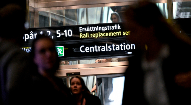 Thousands caught up in travel chaos after trains grind to a halt in southern Sweden