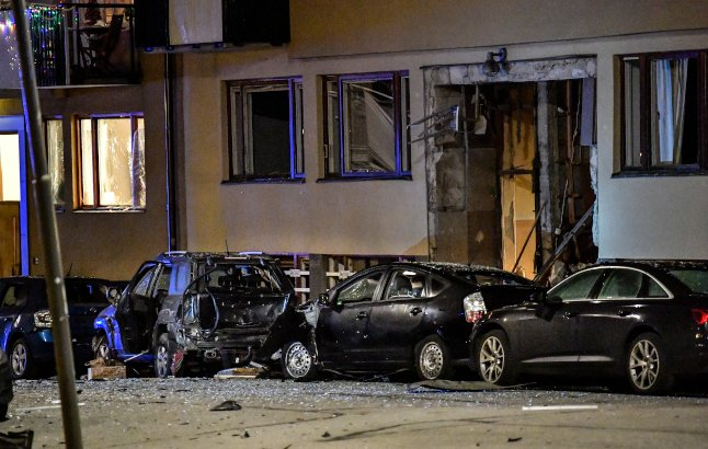 One held after explosion in central Stockholm