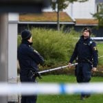 How did reported crime rates change in Sweden last year?