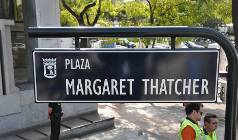 Why does Madrid have a plaza named after Margaret Thatcher?