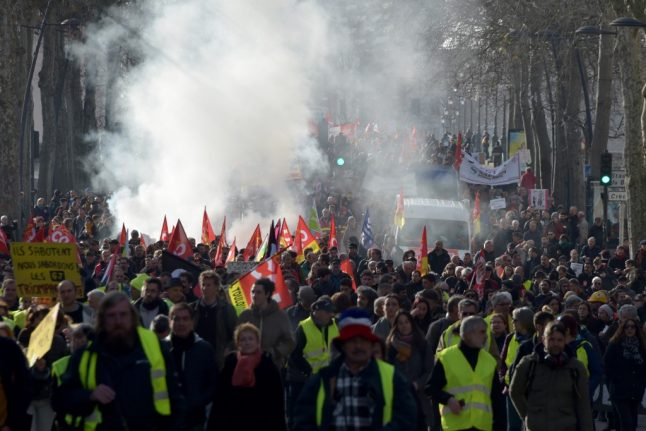 French pension protests pass two-month mark with new Paris demo