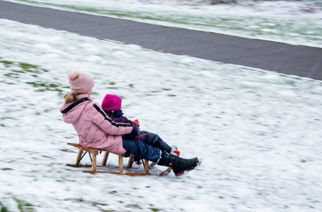 IN PICTURES: Winter returns to Germany as snow falls across the country