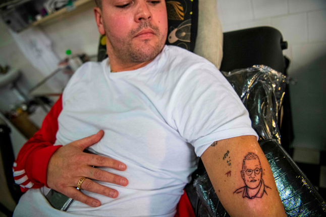 Meet the Swede who tattooed a state epidemiologist's face on his arm