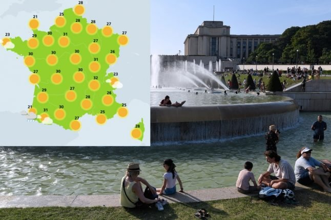 France to sizzle all week with temperatures over 30C