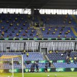 Social distancing in the stands: crowd returns to Danish football