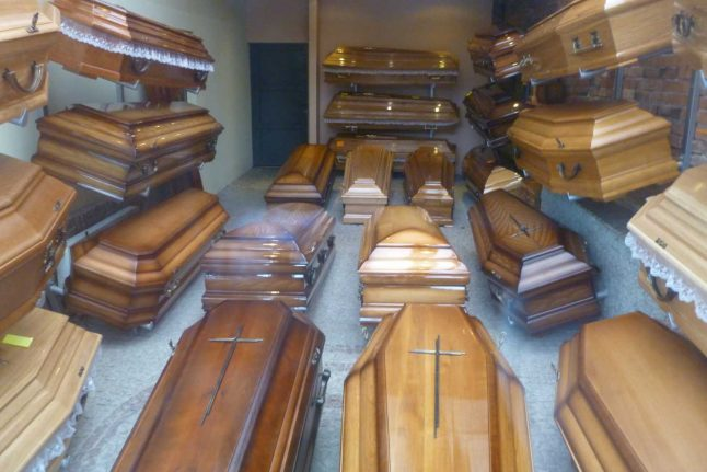 Swiss funeral directors left with extra coffins after coronavirus panic buying