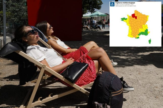 Paris and parts of northern France on 'red' weather warning as country sizzles