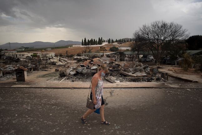 In Pictures: Brits lose homes as fire rips through Spanish holiday park
