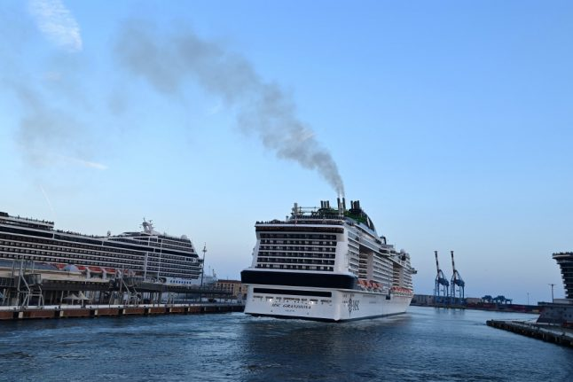 Italian cruise ship leaves Covid rule-breaking passengers behind at Naples port