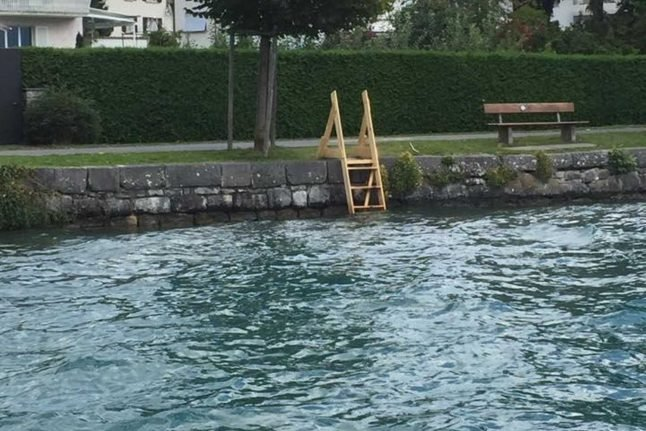 'It's not the Wild West!': Why this lakeside stepladder is causing a storm in Switzerland