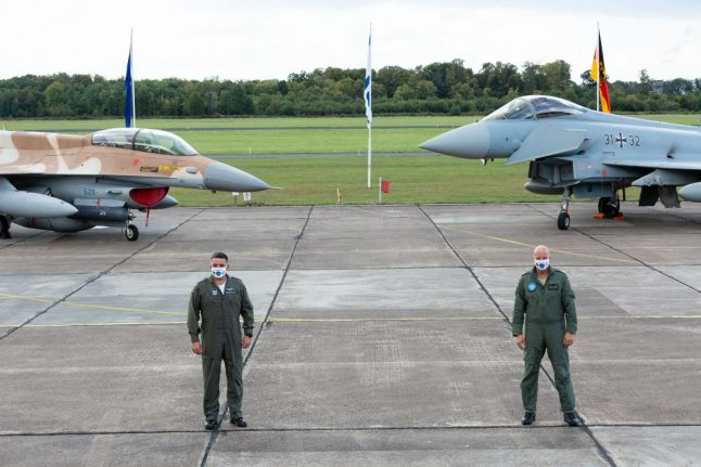 Israeli fighter pilots train in Germany in symbolic first