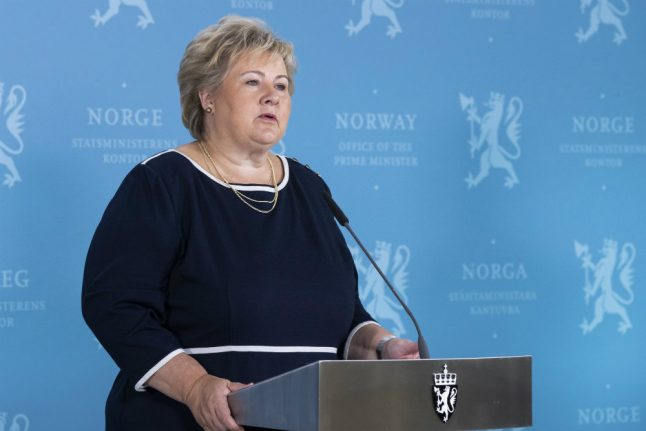 Norway PM Solberg rules out Swedish exemption to coronavirus border rules