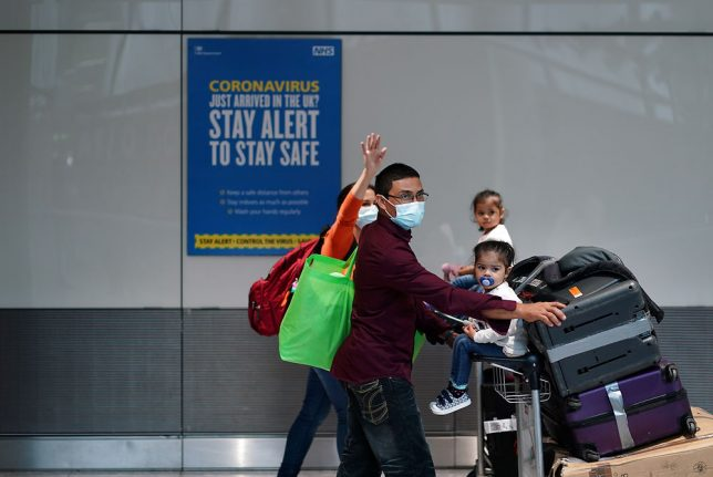Denmark residents again required to quarantine on UK entry