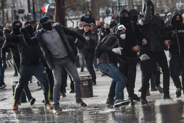 France takes action over notorious 'black bloc' rioters - to make their name more French