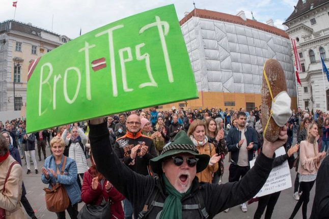 Why are anti-coronavirus protests allowed to continue in Austria?
