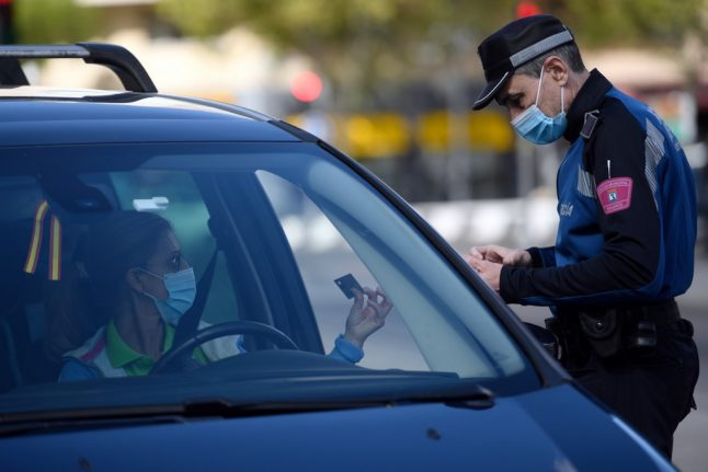 Spanish police carry out random checks as Madrid's partial lockdown begins
