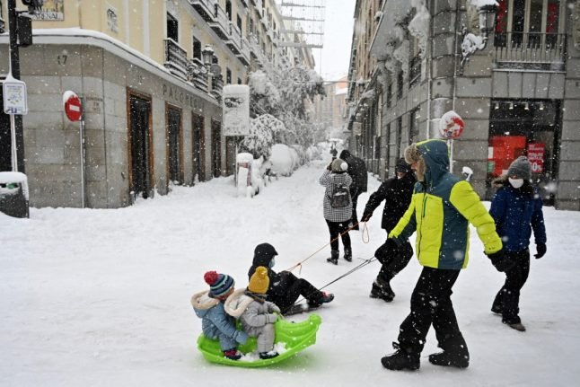 Spain's capital delays reopening of schools after historic snowfall