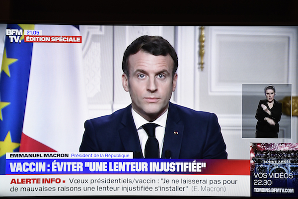 French President Macron pledges no 'unjustifiable delays' in Covid jabs