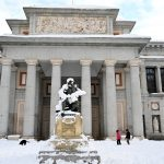 Snow keeps schools, museums and courts closed in icy central Spain
