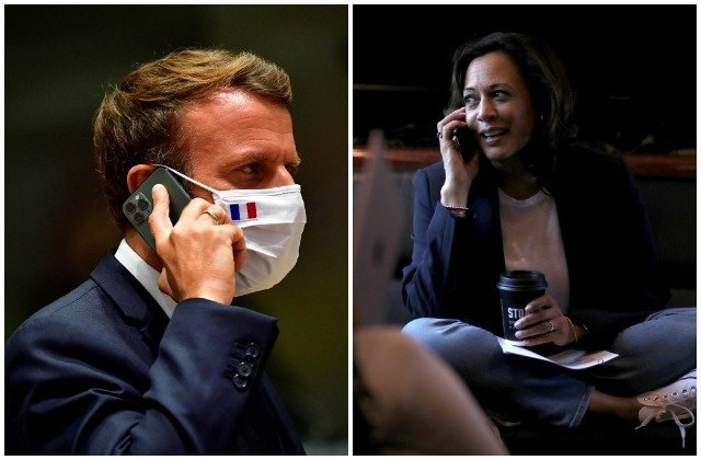 France's Macron and Kamala Harris discuss Covid and climate change over phone