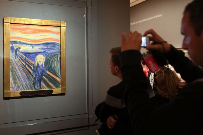 Munch wrote 'madman' tag on 'Scream' painting, museum rules