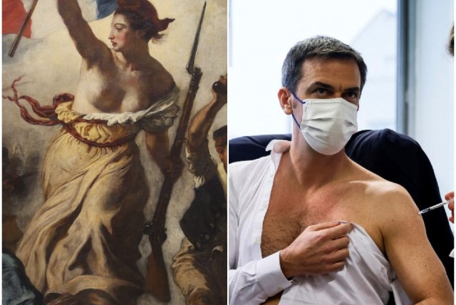 10 of the funniest things people said about the French health minister's semi-topless vaccine pose