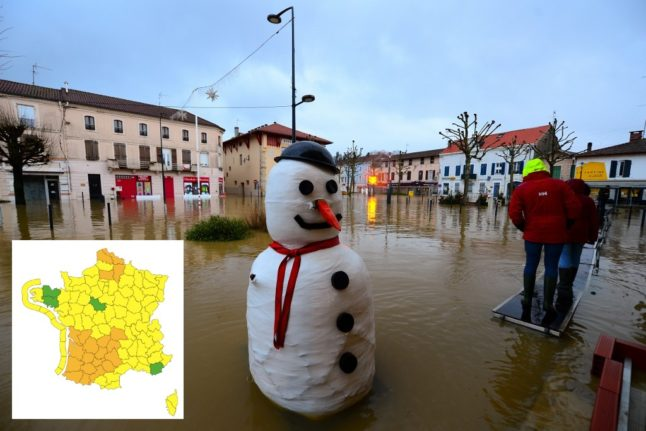 Large parts of France on flood alert as more rain forecast