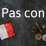 French phrase of the day: Pas con
