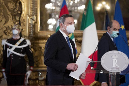 Mario Draghi wins political support to become Italy's new PM