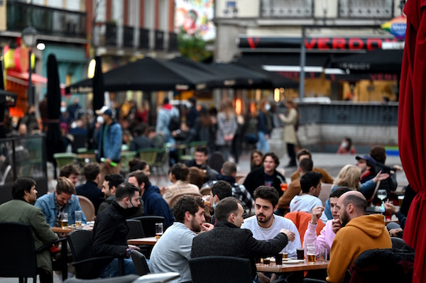 IN PICS: Madrid becomes haven for fun-starved Europeans but locals can't leave