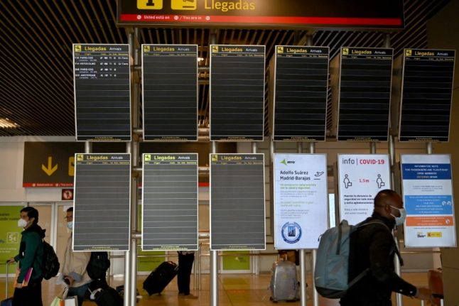 Spain extends restrictions on travel from outside the EU until end of April