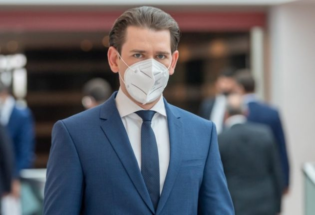What are the fines for breaching the tightened mask rules in Austria?