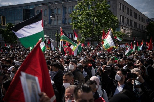 Police arrest 59 at pro-Palestinian protest in Berlin