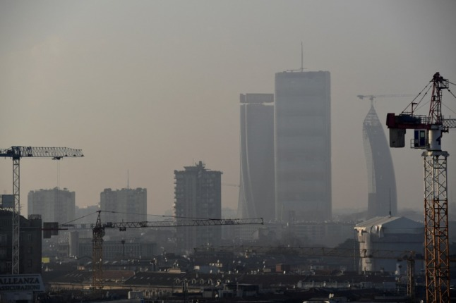 Italy's northern cities rated among the worst in Europe for air pollution