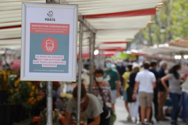 Where do you still need to wear a face mask in France?