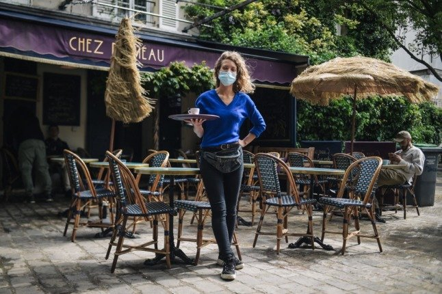 QR codes and sign-ins - how France's reopened restaurants keep track of customers