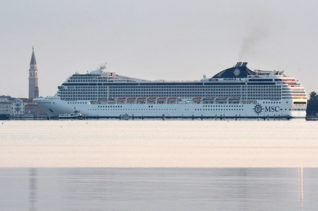 'They're back': First cruise ship in 17 months arrives in Venice