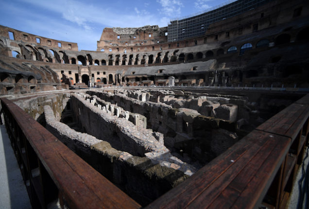 Rome's Colosseum fully opens underground labyrinth to the public